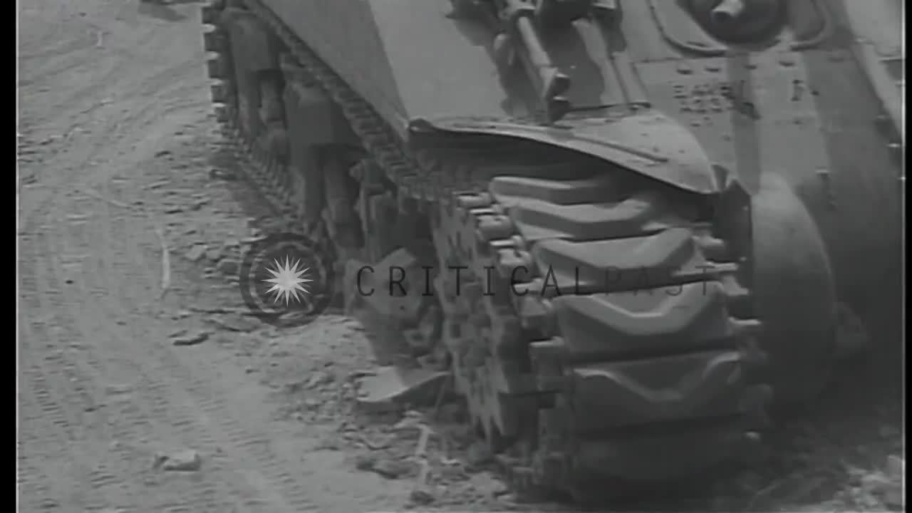 DestroyedTanks, destroyedtanks, Sherman in Italy knocked out by what appears to have been a large HE impact [gfy] (reddit) GIFs