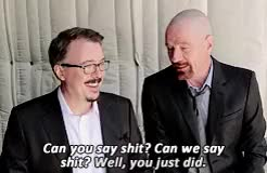 Watch and share Bryan Cranston GIFs and Vince Gilligan GIFs on Gfycat