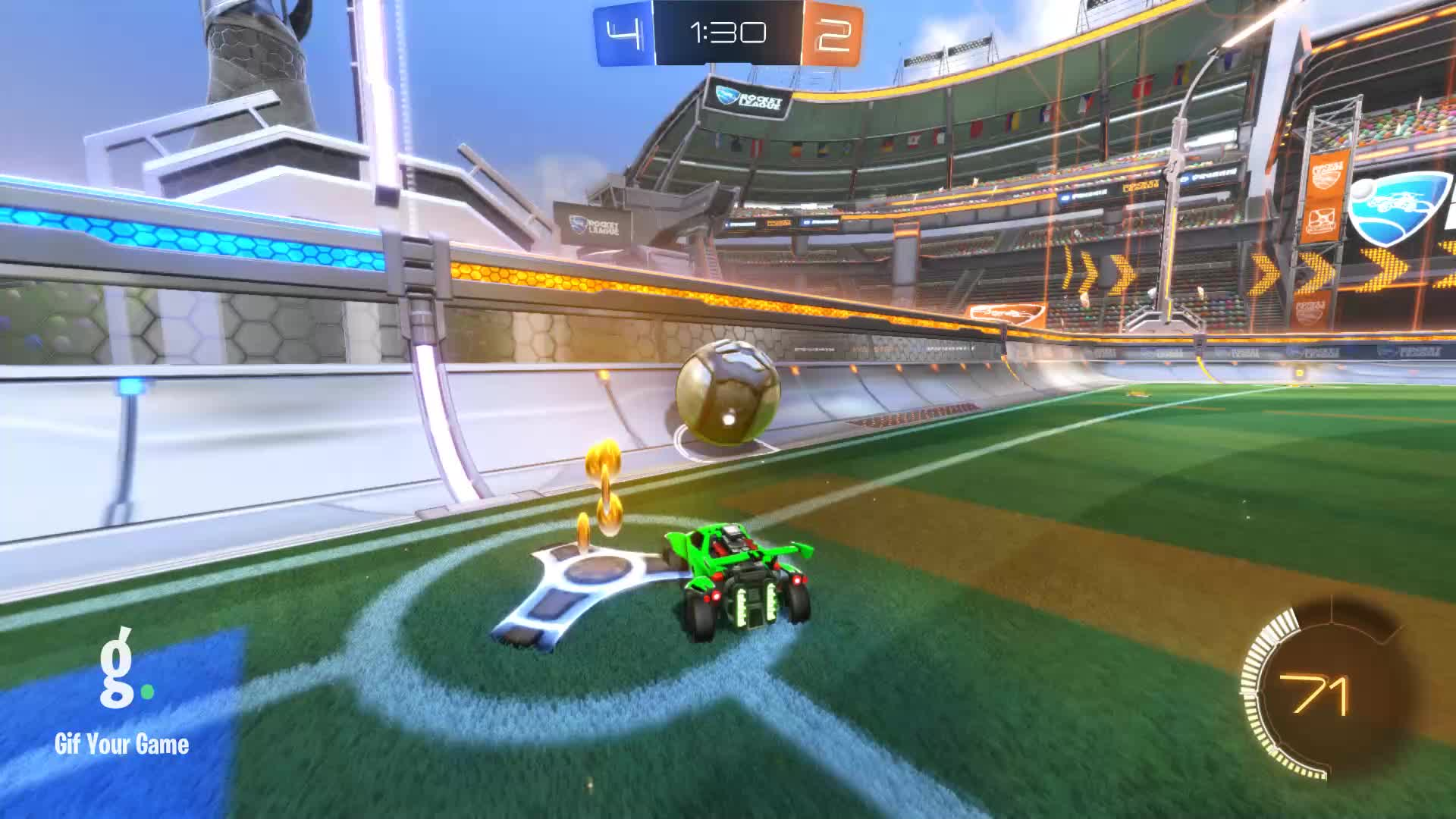 Gif Your Game, GifYourGame, JAG | Purple, Rocket League, RocketLeague, Assist 4: JAG | Purple GIFs