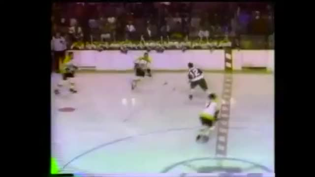 Watch and share Bobby Orr Splits Two Defenders, Scores Epic Goal GIFs by kflan08 on Gfycat