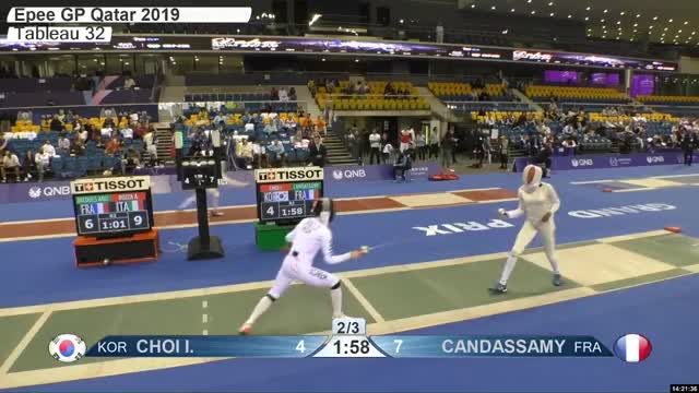 Watch CHOI L 4 GIF by Scott Dubinsky (@fencingdatabase) on Gfycat. Discover more gender:, leftname: CHOI L, leftscore: 4, rightname: CAN DASSAMY, rightscore: 8, time: 00021381, touch: right, tournament: doha2019, weapon: epee GIFs on Gfycat