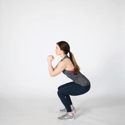 Watch and share 400x400 Squat Jumps GIFs by Healthline on Gfycat