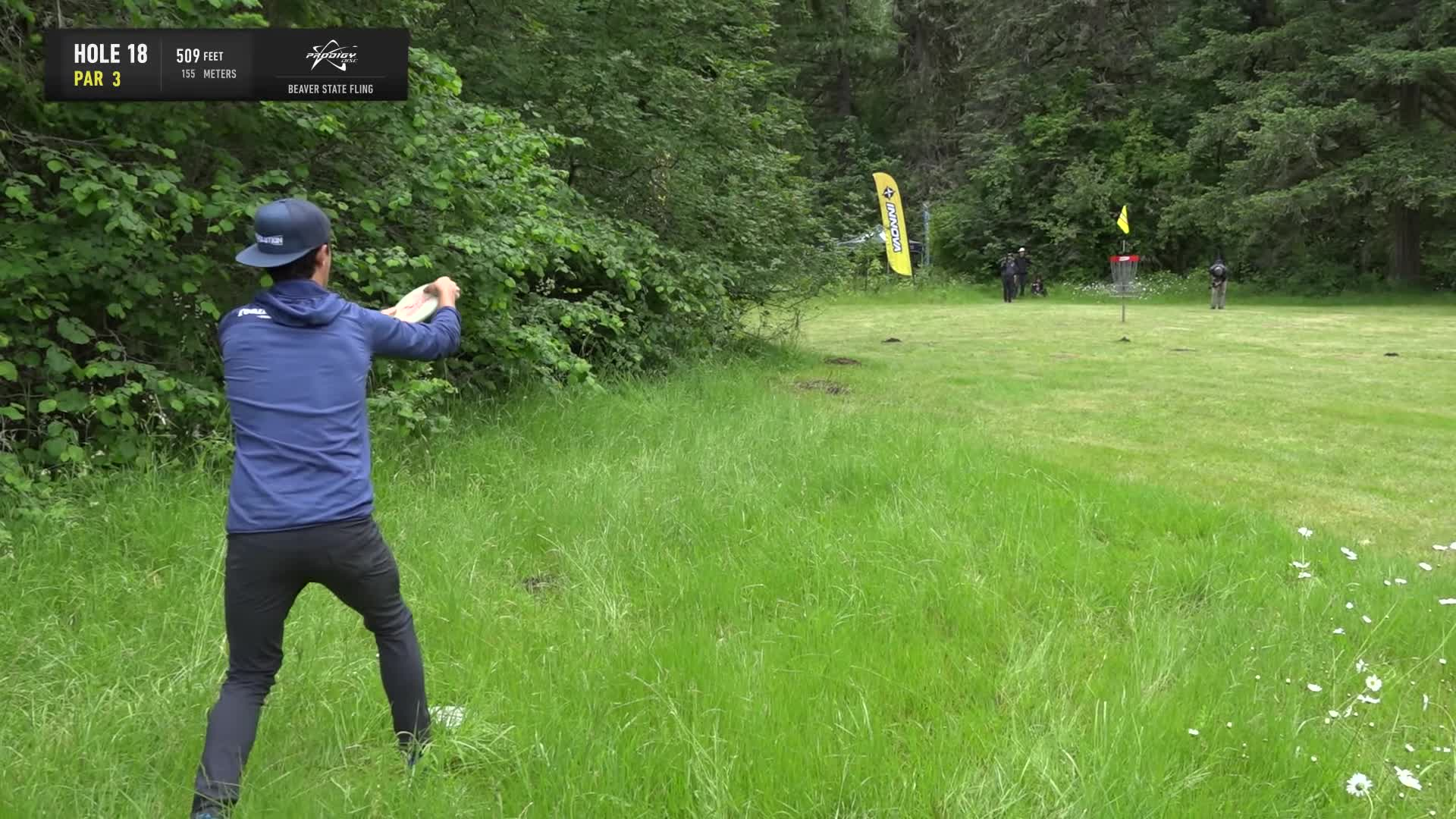 ace, bsf, dela, delaveaga, dgpt, dgwt, disc, disc golf, frolf, hole in one, masters cup, mcbeast, milo, nate sexton, nt, paul mcbeth, pdga, simon lizotte, tournament, worlds, 2019 Beaver State Fling - Round 1 Part 2 -- Eagle Mcmahon hole 18 putt GIFs