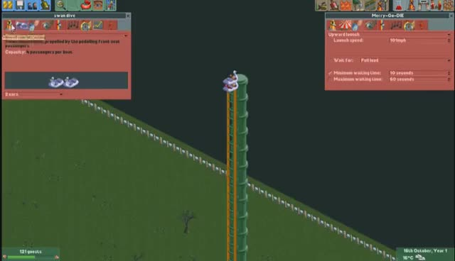 Watch and share [Vinesauce] Joel - Destroying Rollercoaster Tycoon: Multiplayer Mod Disaster GIFs on Gfycat
