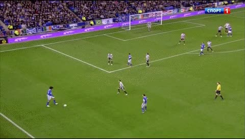 Watch and share Leighton Baines. Everton - Newcastle. 2012 GIFs by fatalali on Gfycat