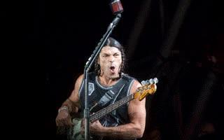 Watch and share Heavy Weather, Hard Rock: Metallica @ Glastonbury GIFs on Gfycat