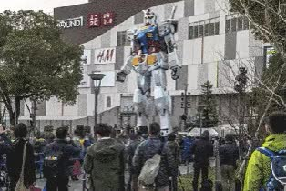 Watch and share The Epic Gundam Statue Sees Its Last Days In This Timelapse Video GIFs on Gfycat