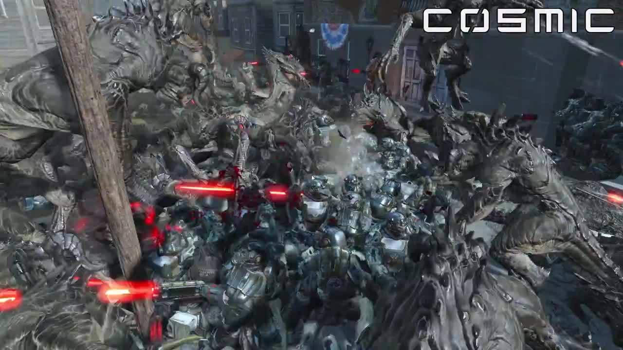 battle, fallout 4, fo4, Deathclaws vs Brotherhood Of Steel GIFs