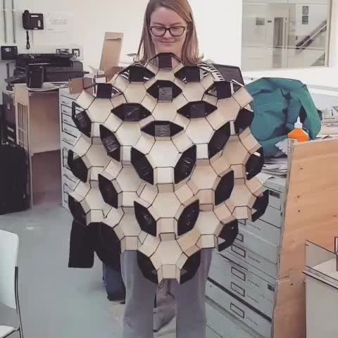 amazing, awesome, waohdude, 3d wood origami GIFs