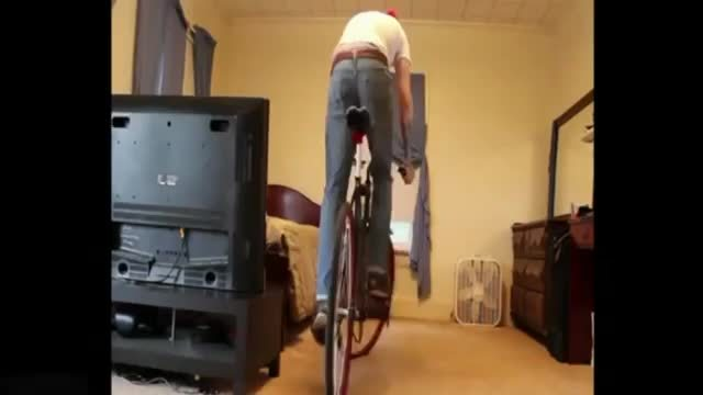 whatcouldgowrong, Bike Trick In Bedroom (reddit) GIFs