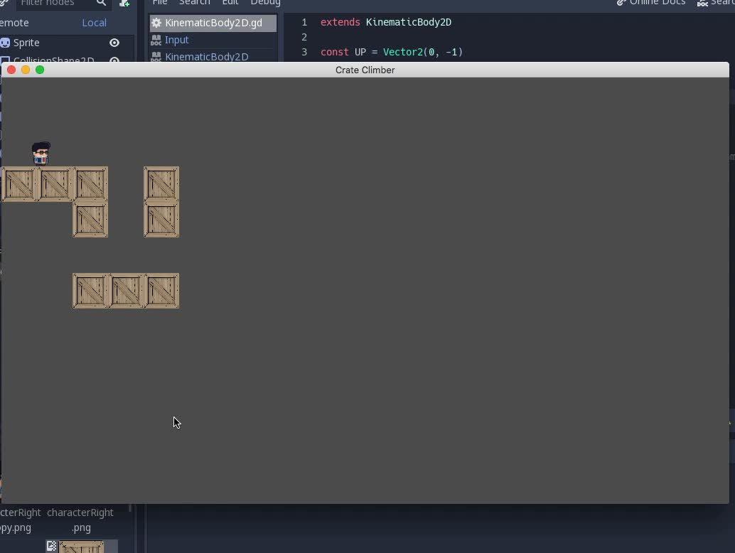 Crate Climber Game Development In Godot