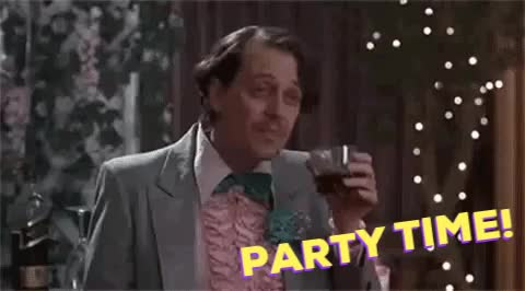 Watch this party time GIF by Jordan Frost (@frost42) on Gfycat. Discover more film, party, party time, reaction gif, steve buscemi, the wedding singer GIFs on Gfycat