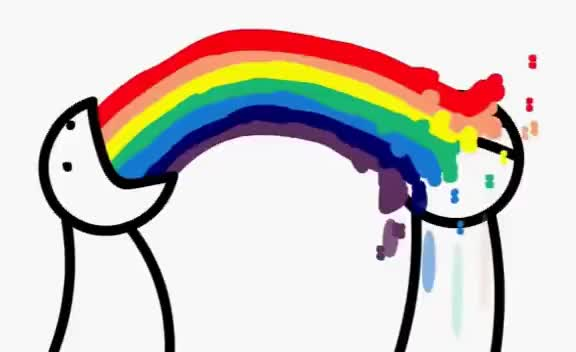 Watch and share Throw Up Rainbow GIFs on Gfycat