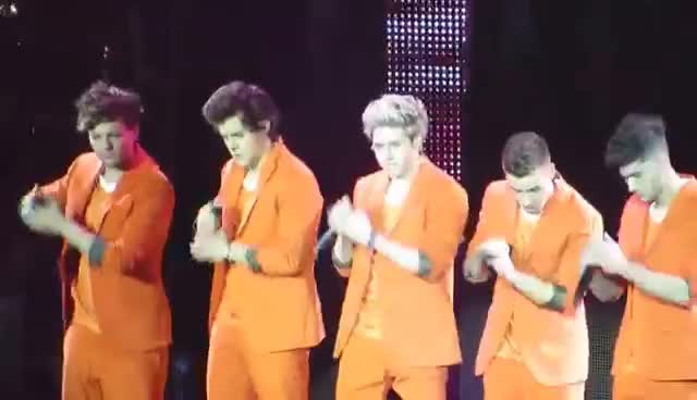 One Direction in Amsterdam in Orange GIFs