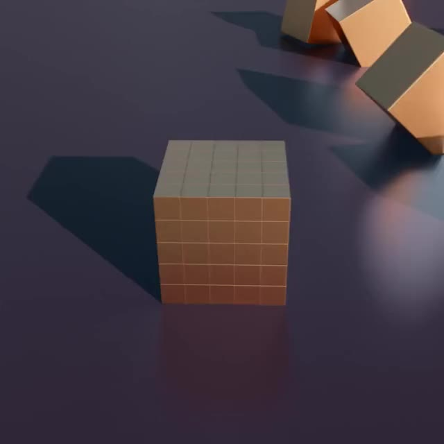 Watch and share Cube-crumble GIFs by Yann Le Gall on Gfycat