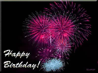 Watch and share Ee Animated Happy Birthday Fireworks Birthday Clipart Animated GIFs on Gfycat