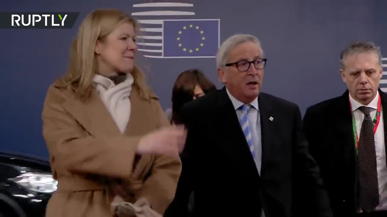 Europe, brussels, rt, ruptly, Juncker apparently feeling naughty at the EU summit GIFs