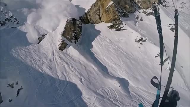 Massive Avalanche Speedriding with Maxence Cavalade