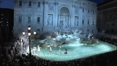 Watch and share 3Fendi Fall Couture 2016 At Fontana Di Trevi, Rome GIFs on Gfycat