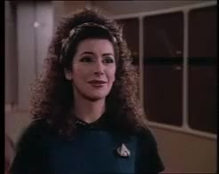 Watch Gif Set - Happy Deanna TroiApologies for the lack of gif pos GIF on Gfycat. Discover more Marina sirtis, Star Trek, Star Trek the next generation, Star Trek tng, counsellor Troi, counselor Troi, deanna Troi, patrick stewart, picard, voyager GIFs on Gfycat