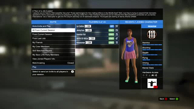 GTA 5 Online Mission: A Titan of a Job - Back to San Andreas Flight