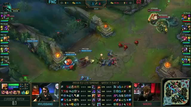 Watch FNC vs G2 - EU LCS 2018 Spring Split W2D2 - Fnatic vs G2 Esports GIF on Gfycat. Discover more related GIFs on Gfycat