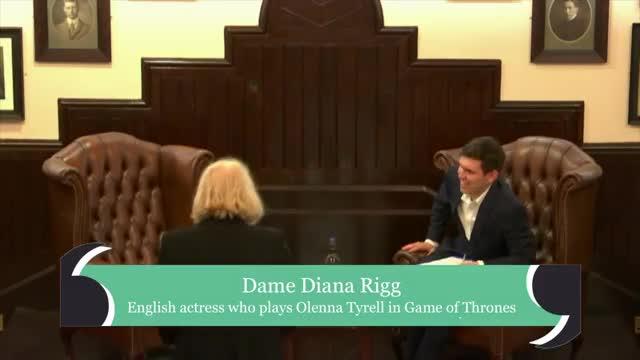 Watch Dame Diana Rigg   Cambridge Union GIF on Gfycat. Discover more cambridge, union GIFs on Gfycat