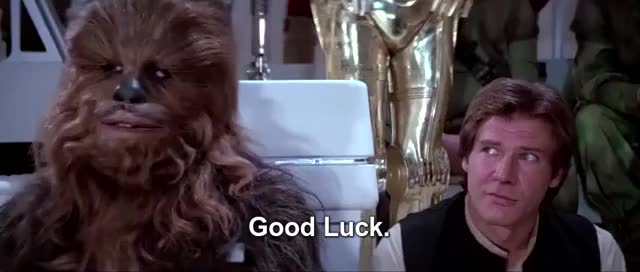 Watch this good luck GIF on Gfycat. Discover more billy dee williams, good luck, han solo, harrison ford, star wars, you're gonna need it GIFs on Gfycat