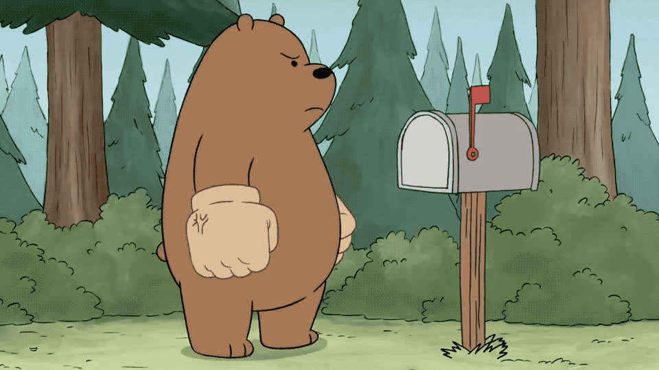 angry, animals, bare, bear, bears, box, break, broke, cartoon, feast, fight, furious, hit, hitting, mad, network, off, pissed, punch, we, We bare bears - So angry GIFs