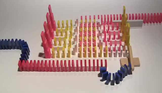 Watch and share Greatest Domino Effect Of ALL TIME (Hevesh5 & SuperMarMarMan1) GIFs on Gfycat