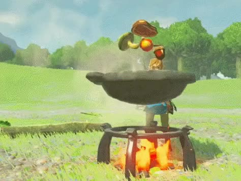 Watch and share Yayomg-breath-of-the-wild-cooking GIFs on Gfycat