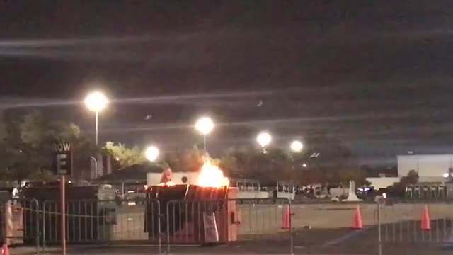 Watch and share  After Yesterday's Texans/Lions Game, There Was A Literal Dumpster Fire Outside Of NRG Stadium GIFs on Gfycat