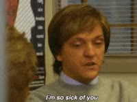 Watch and share Chris Lilley, Bothered, Annoyed, Sick Of You GIFs on Gfycat