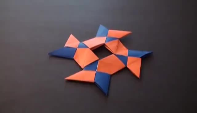 Watch Origami Daily - 353: 8 Pointed Ninja Star (Frisbee) - TCGames [HD] GIF on Gfycat. Discover more related GIFs on Gfycat