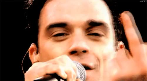 Watch and share Middle Finger Up GIFs and Robbie Williams GIFs on Gfycat