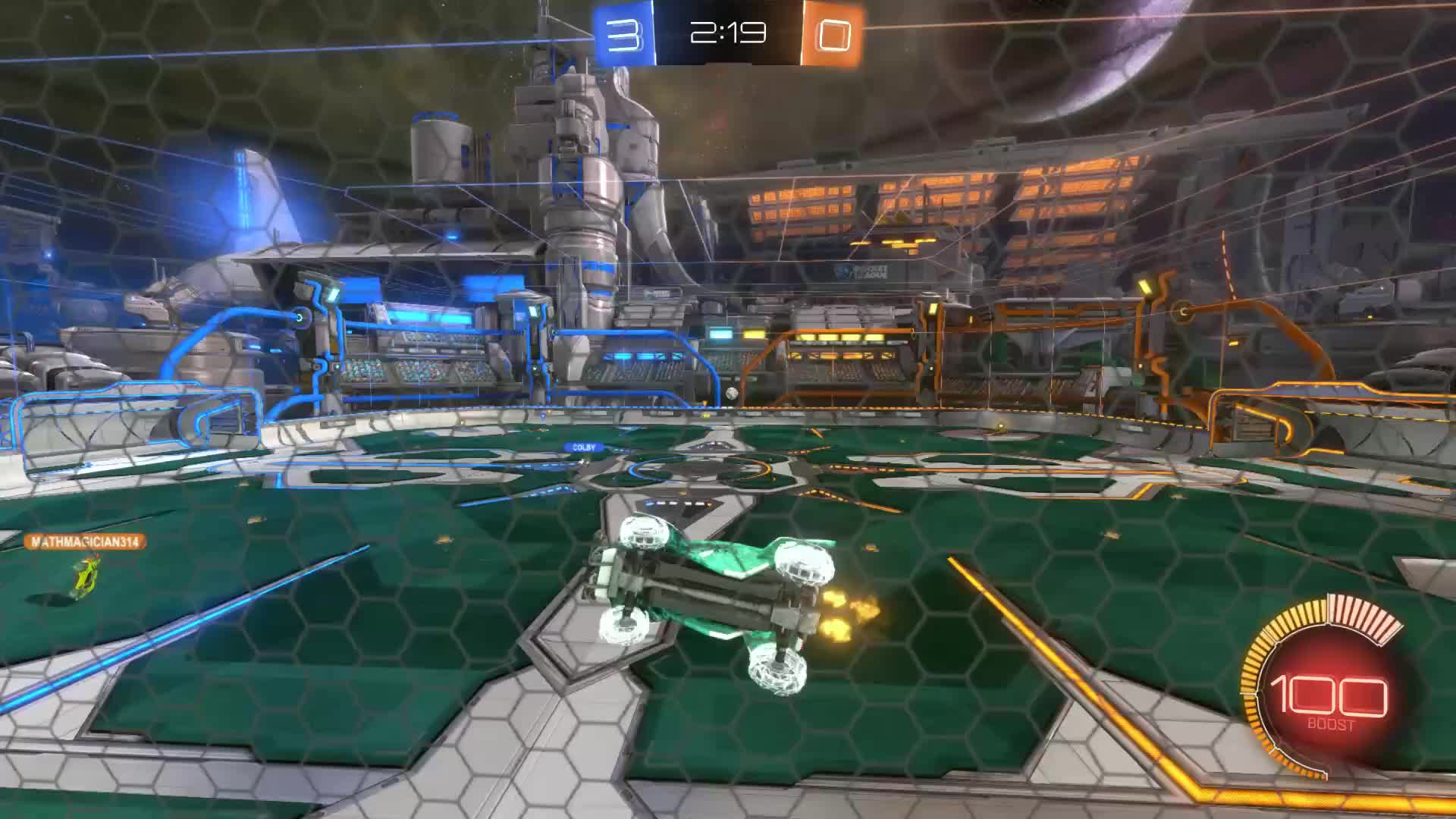 Gif Your Game, GifYourGame, Goal, Keysor, Rocket League, RocketLeague, ⏱️ 3's Ceiling shot, Braiden, Colby GIFs