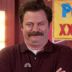 Nick Offerman, lol, Ron Swanson Hysterical Laugh GIFs