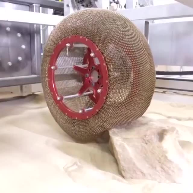 Watch NASA created an airless chainmail tire that transforms shape. GIF by LimeLights  (@makeagiffoundation) on Gfycat. Discover more related GIFs on Gfycat