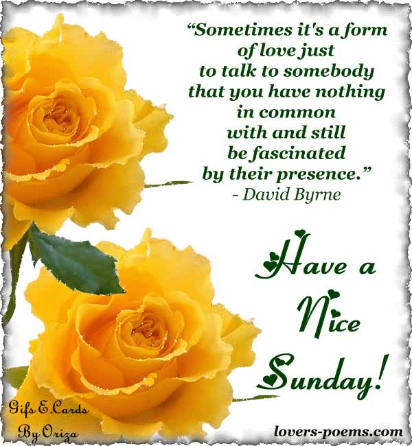 Watch and share Have A Nice Sunday! animated stickers on Gfycat