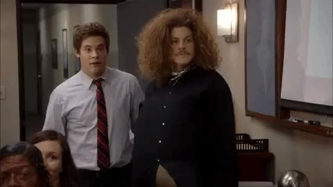 Watch and share Adam Devine GIFs and Waving GIFs on Gfycat