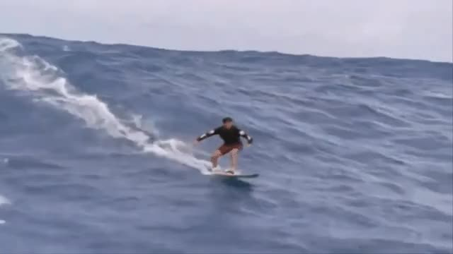 Watch and share Experienced Surfer Takes On A Big Wave GIFs on Gfycat