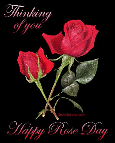 Watch and share Happy Rose Day Greeting Card For Girlfriend GIFs on Gfycat