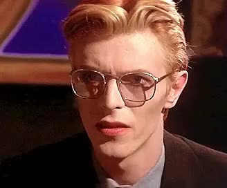 80s, bowie, confused, confusion, david, disgust, funny, how, question, wait, what, who, wtf, Confused Bowie GIFs