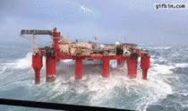 Watch and share Oil Rig Vs Big Waves GIFs on Gfycat