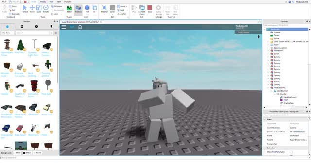 Watch and share Super Emote Maker Lolololol (MY PLACE ONLY) - Roblox Studio 2019-09-24 18-37-21 GIFs on Gfycat