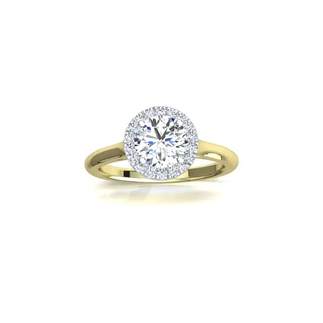Watch and share Halo Engagement Ring - GS Diamonds GIFs by Mary Lee on Gfycat