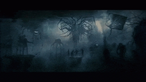 baphomet, horror, lovecraft, monster, nightmare, scary, spooky, tentacles,  GIFs