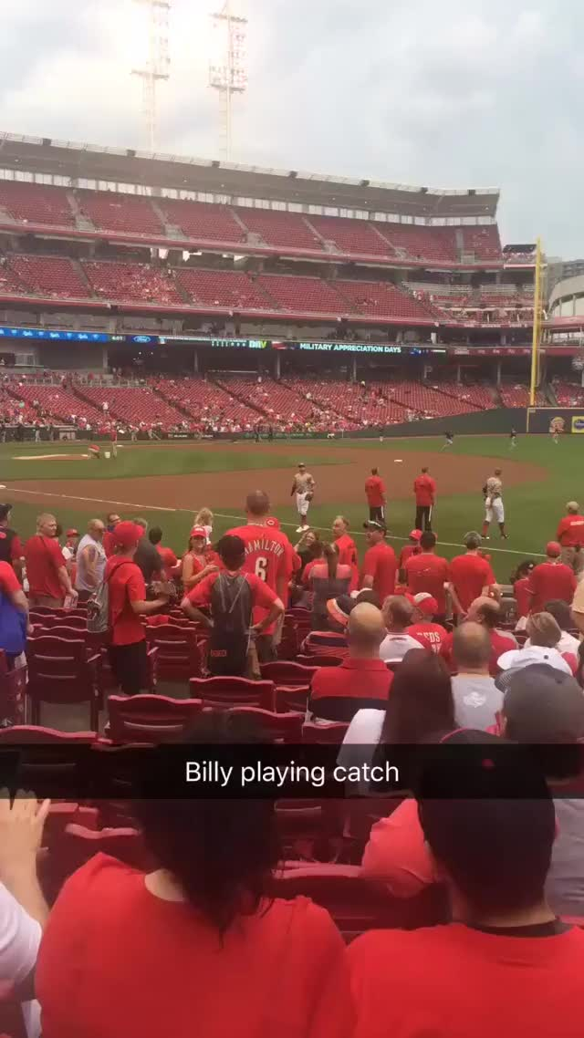 Watch and share Stephan Sharp 📎 - So @BillyHamilton Is Pretty Cool Cc: @Reds GIFs on Gfycat