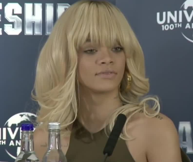 Not amused, WOW., disappointed, Rihanna is not amused GIFs