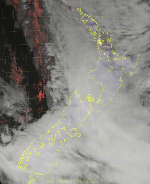 Watch Ex-tropical Cyclone Cook hits New Zealand - April 13, 2017 GIF by The Watchers (@thewatchers) on Gfycat. Discover more related GIFs on Gfycat